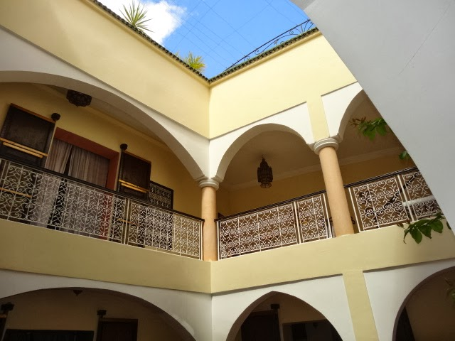 traditional Moroccan house with an interior garden or courtyard
