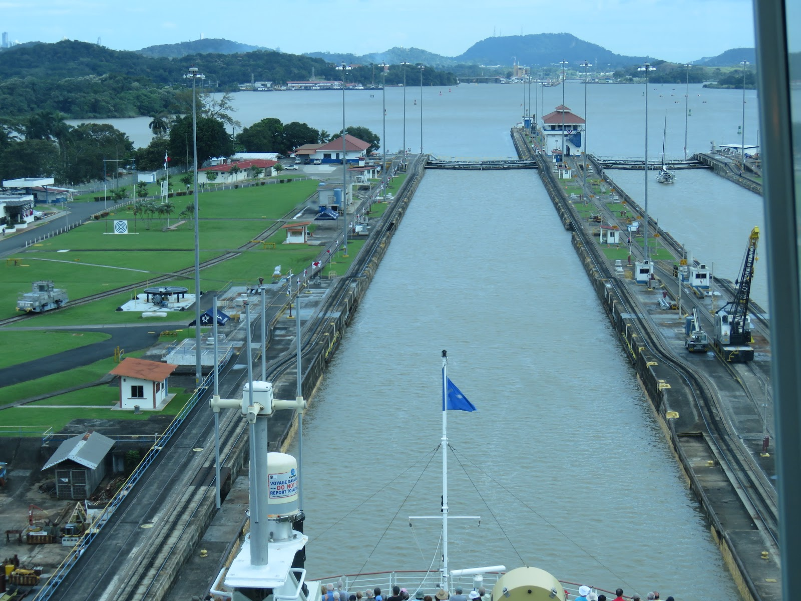 The Miraflores Locks in the Panama Canal